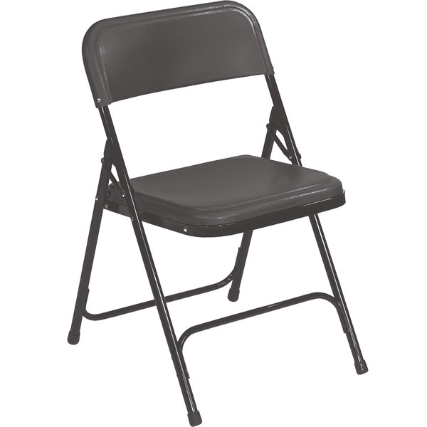 Black Metal Folding Chairs public seating 810 black metal folding chair with black plastic seat