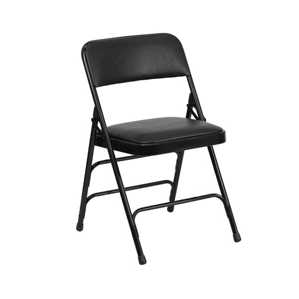 "Black Metal Folding Chair with 1"" Padded Vinyl Seat at Sears.com"