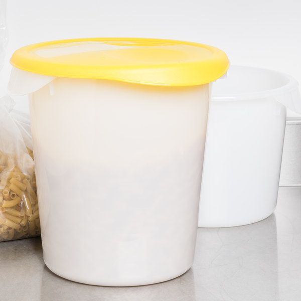 rubbermaid fg572500yel yellow lid for 6 8 qt round food storage containers