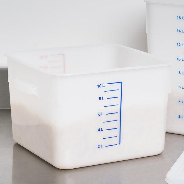 rubbermaid fg9f0700wht 12 qt white square food storage container