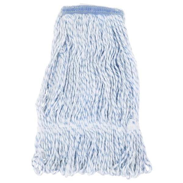 light blue finish mop head