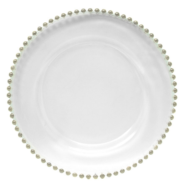 silver charger plates bulk cheap the jay companies round beaded glass plate hobby lobby