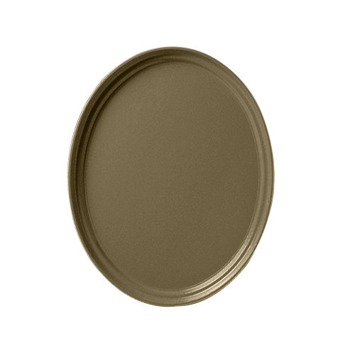 """Cambro 2700513 22"""" x 26 7/8"""" Oval Bay Leaf Brown Fiberglass Camtray - 6 / Case at Sears.com"""