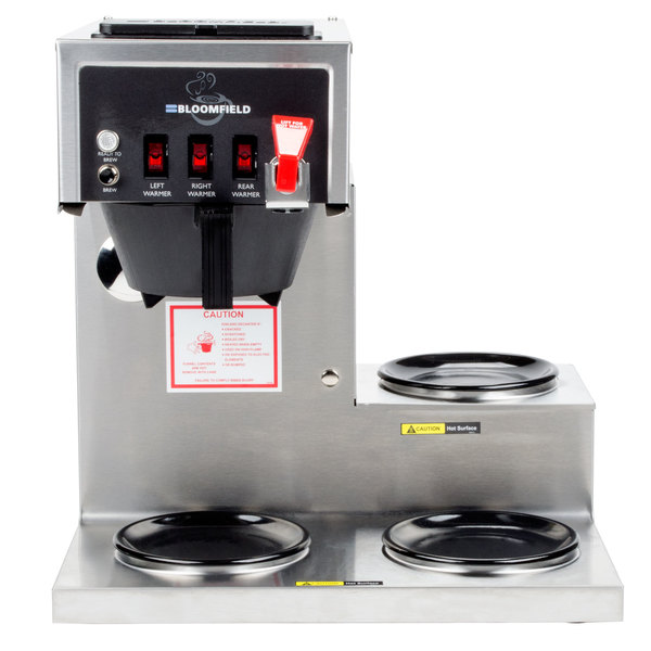 Bloomfield 8572D3F-120C Koffee King 3 Warmer Right Stepped Automatic Coffee Brewer - 120V (Canadian Use Only)