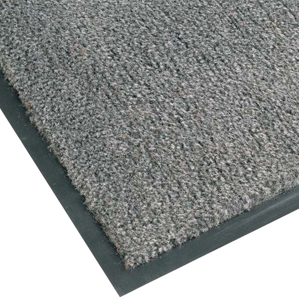 "Teknor Apex NoTrax T37 Atlantic Olefin 434-326 3' x 10' Gunmetal Carpet Entrance Floor Mat - 3/8"" Thick"