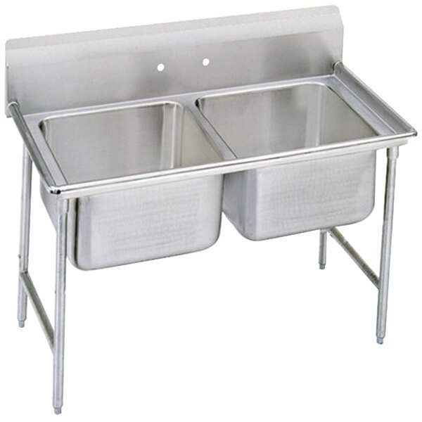 Advance Tabco 93-42-48 Regaline Two Compartment Stainless Steel Sink - 60""