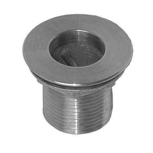 "All Points 56-1217 Nickel Plated Brass Sink Drain - 1 1/2"" NPS; 1 1/2"" Long; 2"" Sink Opening"