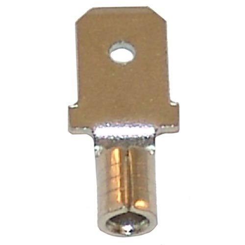 "All Points 85-1014 Nickel Plated Male Quick Disconnect; 1/4"" Tab; Wire Gauge: 14 - 100/Box"