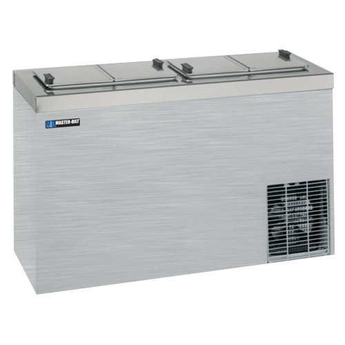 "Master Bilt DC-4SSE 54"" Stainless Steel Flip Lid Ice Cream Dipping Cabinet"
