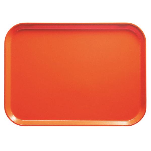 "Cambro 2025222 20 3/4"" x 25 9/16"" Rectangular Orange Pizzazz Fiberglass Camtray - 6 / Case at Sears.com"