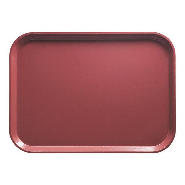 "Cambro 16225410 16 1/2"" x 22 1/2"" Rectangular Raspberry Cream Fiberglass Camtray - 12 / Case at Sears.com"