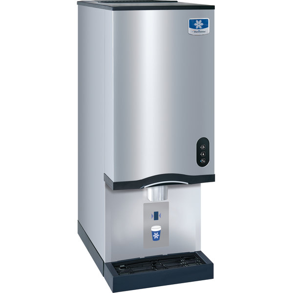 manitowoc rns20at air cooled countertop ice maker and water dispenser 20 lb bin with sensor dispensing - Countertop Water Dispenser