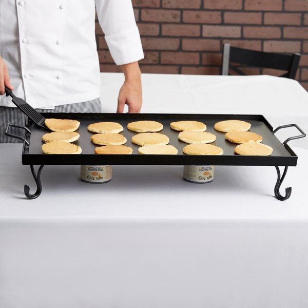 American Metalcraft GS27 Iron Griddle with Stand Full Size