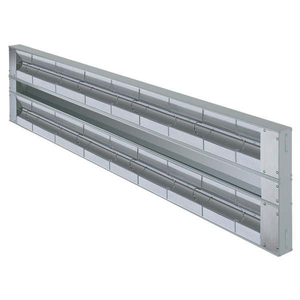 "Hatco GRAH-42D Glo-Ray 42"" Aluminum Dual High Wattage Infrared Warmer with 3"" Spacer and Toggle Controls - 120V, 1900W"