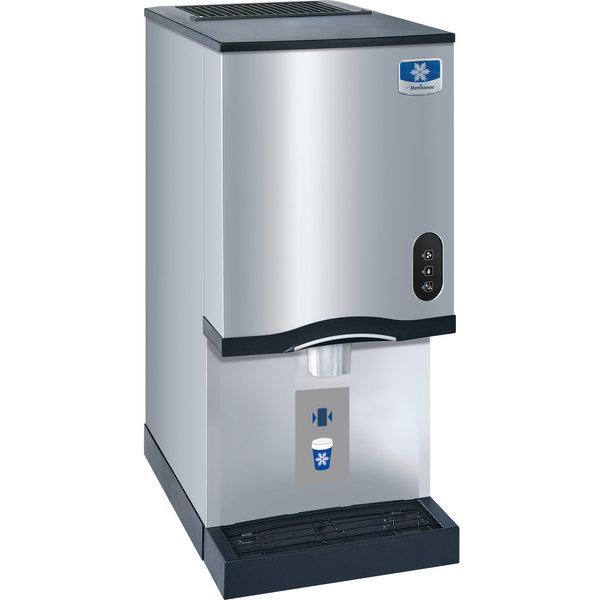 Manitowoc RNS-12AT Air Cooled Countertop Ice Maker and Water Dispenser - 12 lb. Bin with Sensor Dispensing