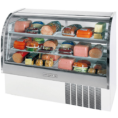 "Beverage Air CDR5/1-W-20 White Exterior Curved Glass Refrigerated Bakery Display Case 61"" - 22.9 Cu. Ft."