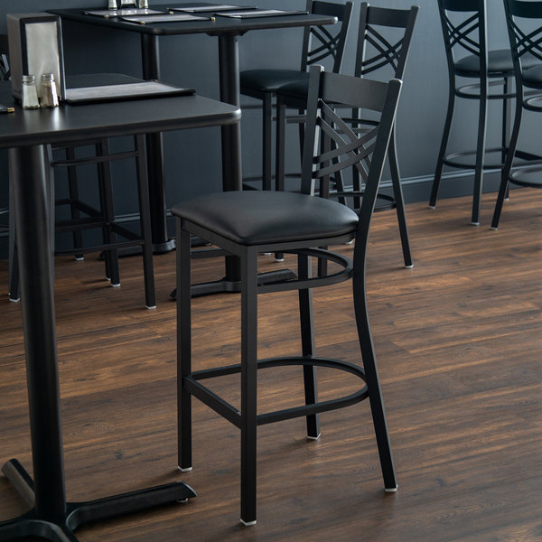 Wondrous Lancaster Table Seating Cross Back Bar Height Chair With 2 1 2 Padded Seat Pabps2019 Chair Design Images Pabps2019Com