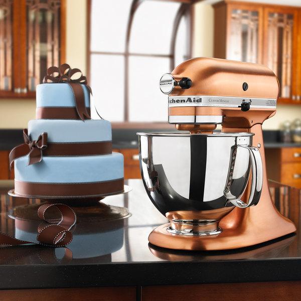 kitchenaid ksm152pscp satin copper custom metallic series 5 qt countertop mixer
