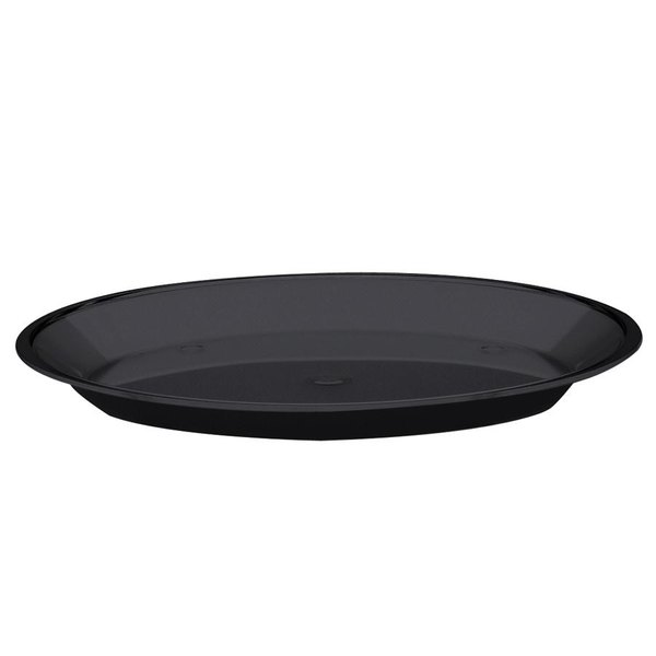 "Cal-Mil 315-7-13 Black Turn N Serve Shallow Tray for 7"" Cal-Mil Sample Dome Covers"