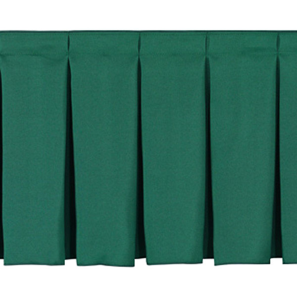 "National Public Seating SB32-48 Green Box Stage Skirt for 32"" Stage - 48"" Long"