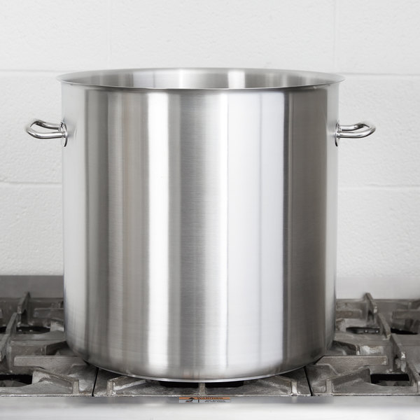 Vollrath 47725 Intrigue 53 Qt. Stainless Steel Stock Pot