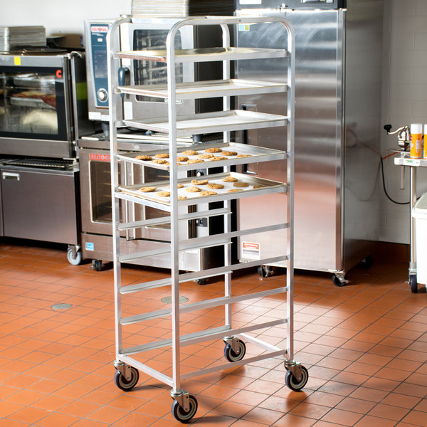 "Winholt AL-1810B End Load Aluminum Platter Cart - Ten 18"" Trays"