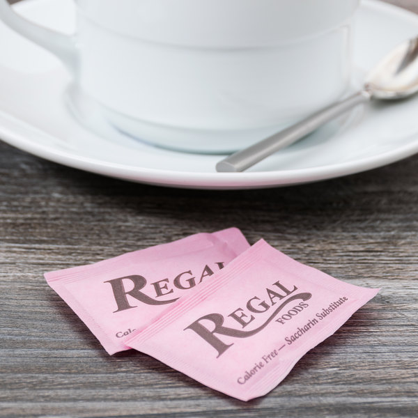Regal Foods 1 Gram Pink Sugar Substitute Packet 2000 Case