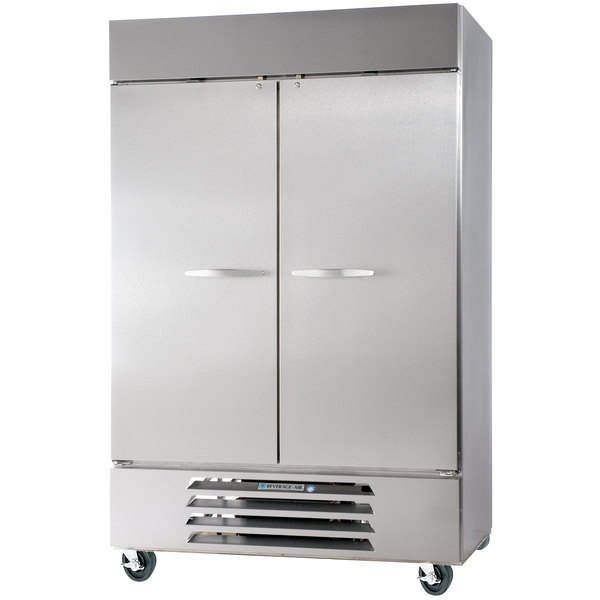 "Beverage Air HBR49-1-S 52"" Horizon Series Two Section Solid Door Reach-In Refrigerator - 49 cu. ft."