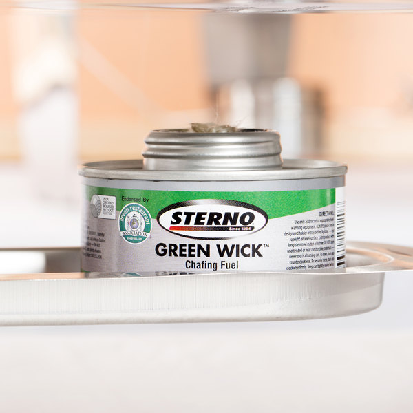Sterno Products 10120 4 Hour Green Wick Chafing Fuel - 24/Case