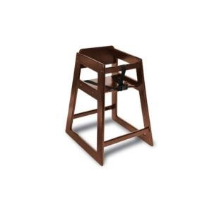 "Koala Kare KB800-24 27 1/2"" Assembled Stacking Restaurant High Chair with Walnut Finish"