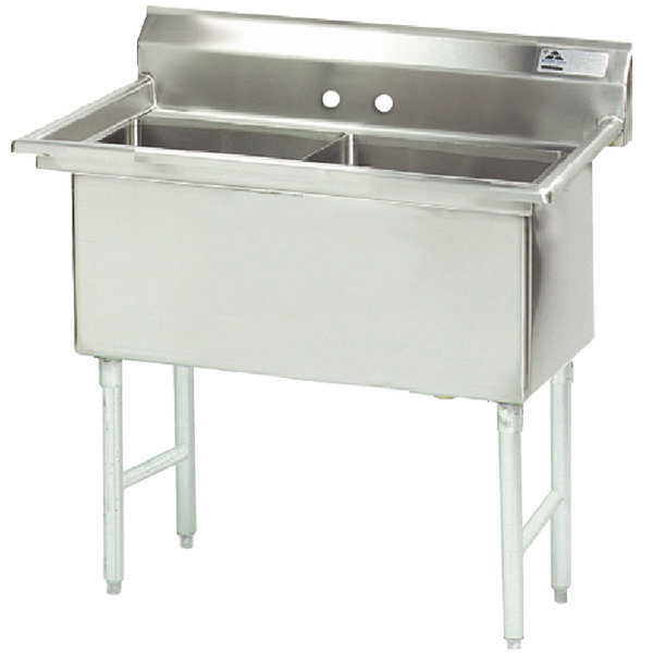 Advance Tabco FS-2-2424 Spec Line Fabricated Two Compartment Pot Sink - 53""