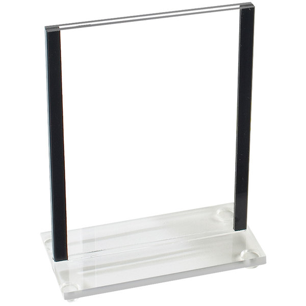"Cal-Mil 534-13 Classic Black Trim Displayette - 4"" x 6"""