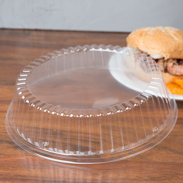 "Dart CL9P 9"" Clear Plastic Dome Plate Cover - 500/Case"