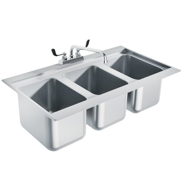 2 compartment sink cad block 3 procedures set up advance three stainless steel drop in bar