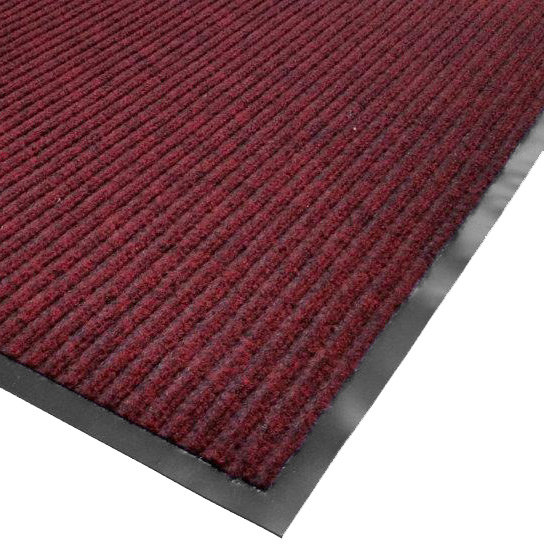 "Cactus Mat 1485R-R6 6' x 60' Red Needle Rib Carpet Mat Roll - 3/8"" Thick"