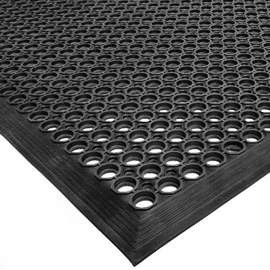 Cactus Mat 2522 C5 VIP TopDek Senior 3u0027 X 5u0027 Black Heavy Duty Rubber Anti Fatigue  Floor ...