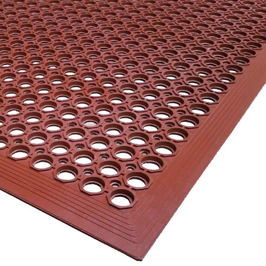 "mat 2530-r15 vip topdek junior 3' x 14' 8"" red grease-resistant"