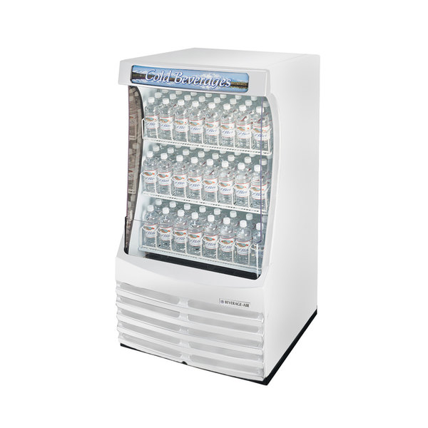 "Beverage Air BZ13-1-W White Breeze Open Display Case 30"" - 13 Cu. Ft."