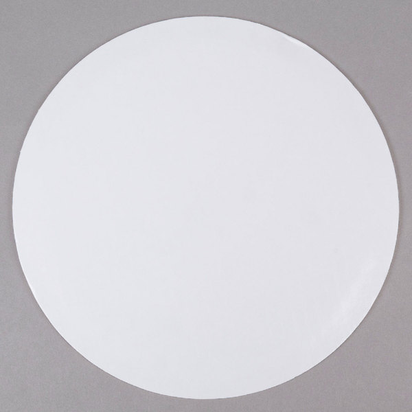 "14"" Corrugated Grease Proof White Cake Circle - 100/Case"