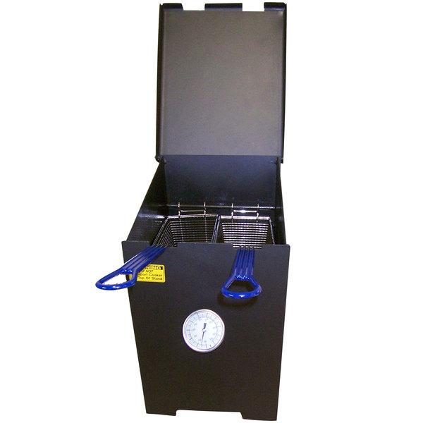 r u0026 v works ff2rss 4 gallon stainless steel outdoor cajun deep fryer btu - Outdoor Deep Fryer