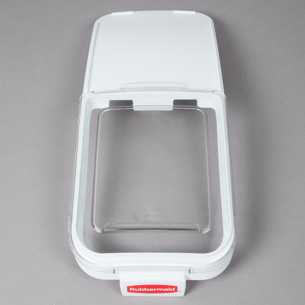 Rubbermaid FG9F7700CLR Replacement Sliding Lid with Scoop Hook for Rubbermaid FG360088WHT