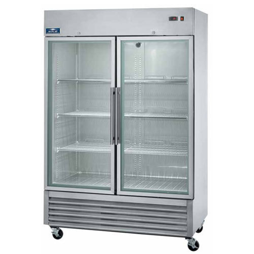Arctic Air Agr49 54 Two Section Glass Door Reach In Refrigerator