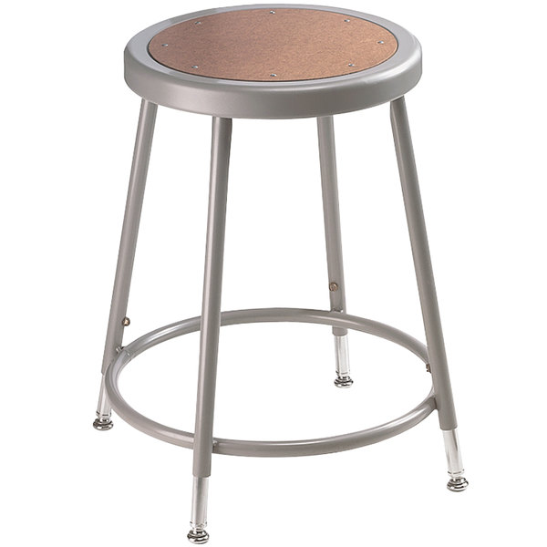 ... Adjustable Hardboard Round Lab Stool. Main Picture; video  sc 1 st  Webstaurant Store & National Public Seating 6218H 19