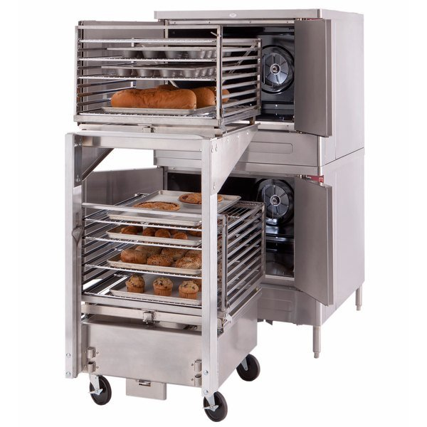 Blodgett Mark V-200 Premium Series Double Deck Roll-In Bakery Depth Full Size Electric Convection Oven - 220/240V, 3 Phase, 22 kW