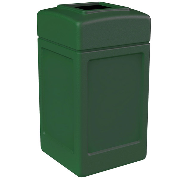 Commercial Zone 732153 PolyTec 42 Gallon Green Waste Container