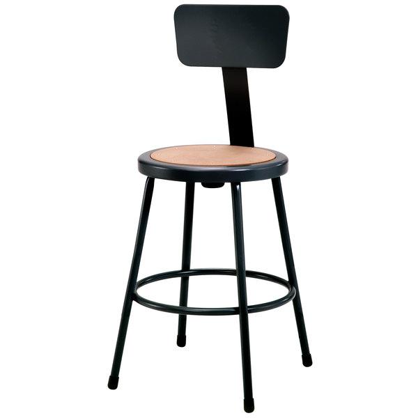 National Public Seating 6224b 10 24 Quot Black Round Hardboard