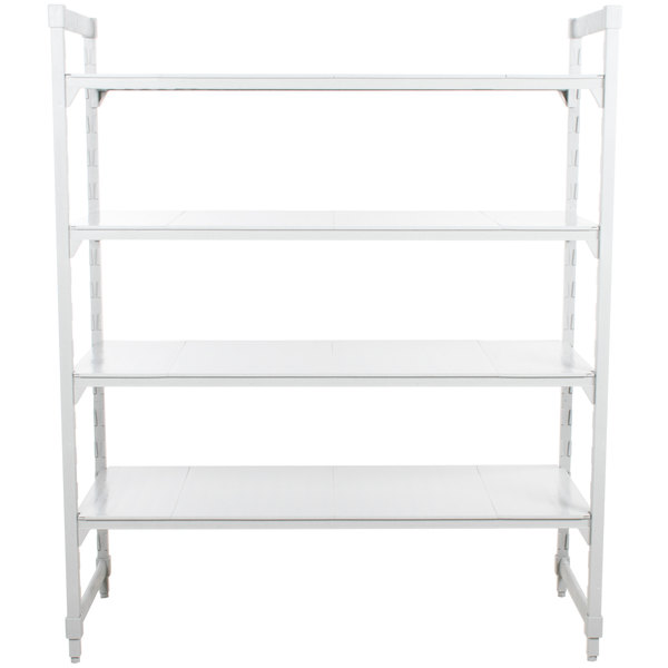 "Cambro CPU245464S4480 Camshelving Premium Solid 4-Shelf Stationary Starter Unit - 24"" x 54"" x 64"""