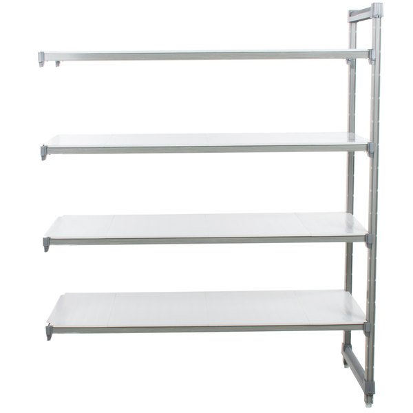 "Cambro EA186072S4580 Camshelving Elements Solid Add On Unit 18"" x 60"" x 72"" - 4 Shelf"