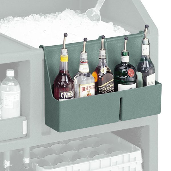 Cambro BAR54SR401 Slate Blue 5-Bottle CamBar Speed Rail
