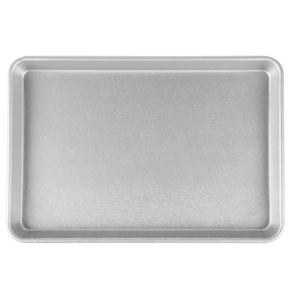 "Chicago Metallic 20700 22 Gauge Glazed Aluminized Steel Jelly Roll Pan - 9 5/16"" x 14 1/4"""